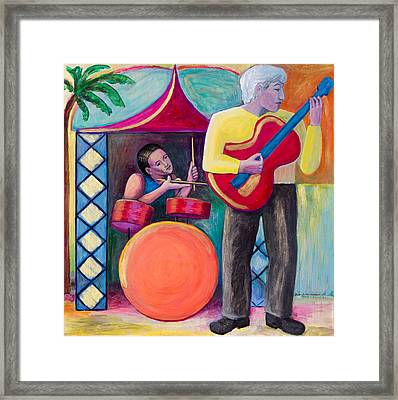 Gold Guitar Framed Print by Terrie  Rockwell