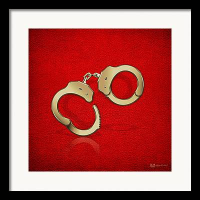 Law Enforcement Art Digital Art Framed Prints