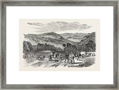 Gold In Australia Road Over The Blue Mountains Framed Print