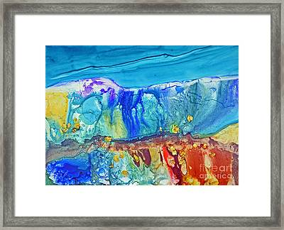 Gold In The Hills Framed Print