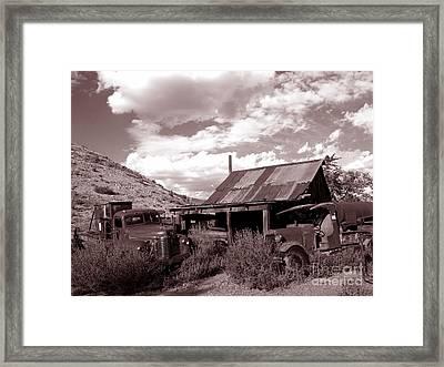 Gold King Mine Near Jerome Framed Print by Alex Cassels
