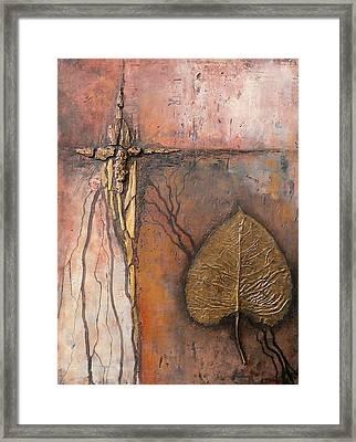 Gold Leaf Framed Print by Buck Buchheister