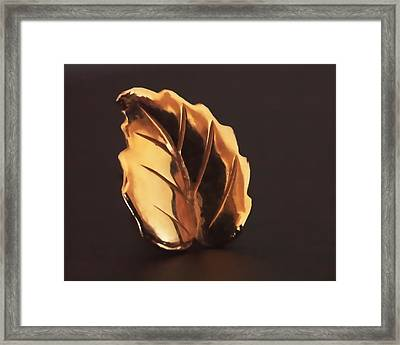 Gold Leaf Framed Print by Rona Black