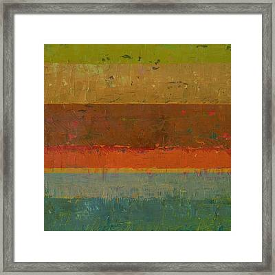 Gold Line Framed Print by Michelle Calkins