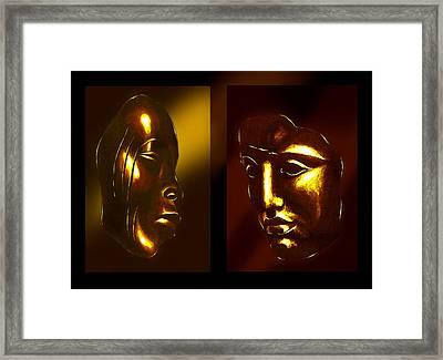 Gold Masks Framed Print by Hartmut Jager