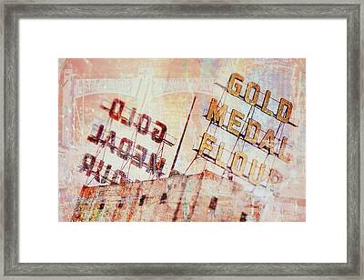 Gold Medal Flour  Framed Print by Susan Stone