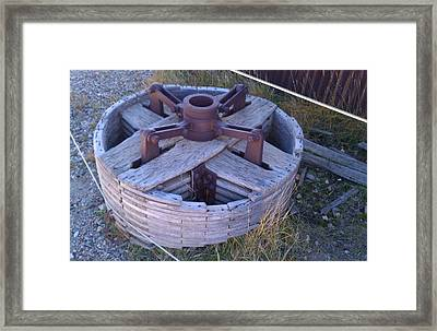 Framed Print featuring the photograph Gold Mine Pulley by Fortunate Findings Shirley Dickerson