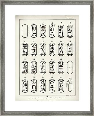 Gold Mine Workers In Ancient Egypt Framed Print