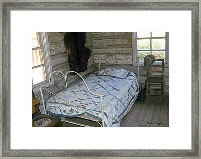 Gold Miners Cabin Framed Print by Barbara Snyder