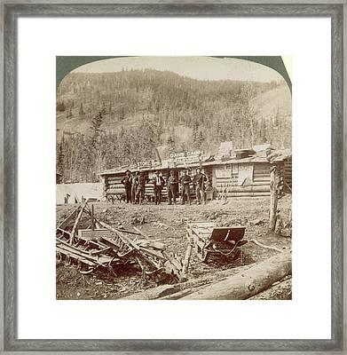 Gold Mining The Klondike Framed Print