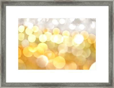 Gold On The Ceiling Framed Print