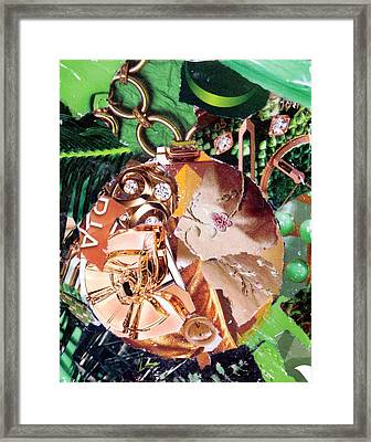 Gold Ornament Framed Print