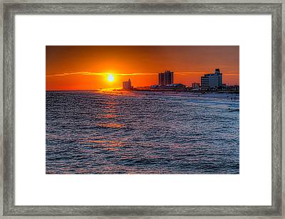 Gold Over The Beach Framed Print