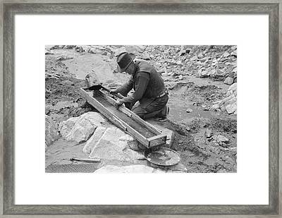 Gold Panning Framed Print by Library Of Congress