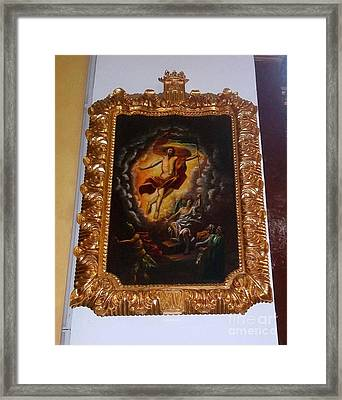 Gold Remains Framed Print