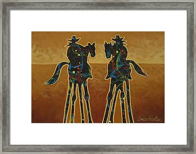 Gold Riders Framed Print by Lance Headlee