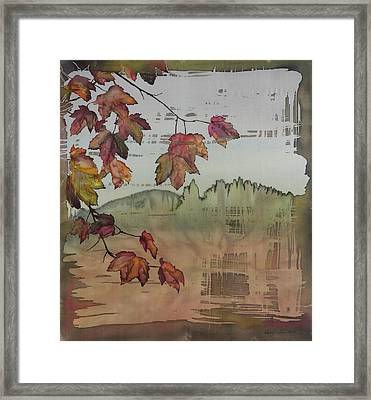 Gold Ridge Maple Framed Print by Carolyn Doe