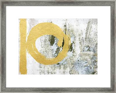 Gold Rush - Abstract Art Framed Print by Linda Woods