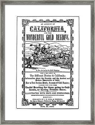 Gold Rush Guidebook, 1849 Framed Print by Granger