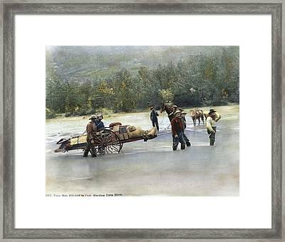Gold Rush Klondike Framed Print by Granger