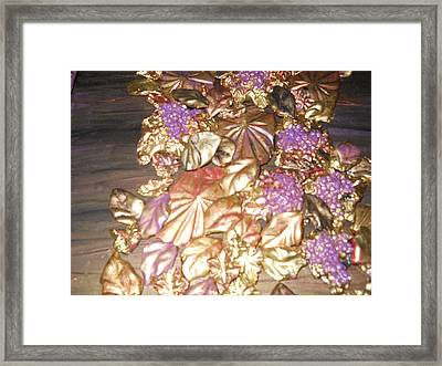Gold Seashell Relief Framed Print by Suzanne Thomas