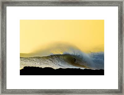 Gold Shack Framed Print by Sean Davey