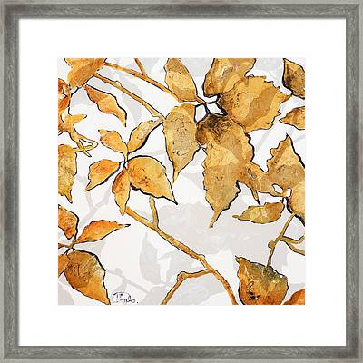 Gold Shadows I Framed Print