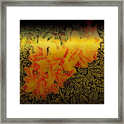 Gold Sheet Floral 4 Framed Print by Patricia Keith