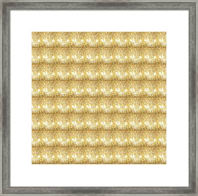 Framed Print featuring the photograph Gold Sparkle Tone Pattern Unique Graphics by Navin Joshi
