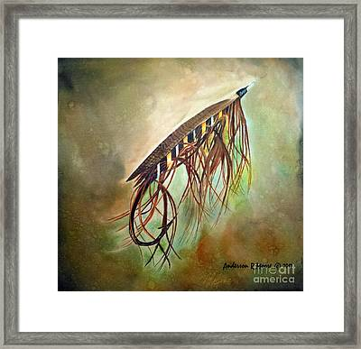 Gold Speal Spey Framed Print by Anderson R Moore