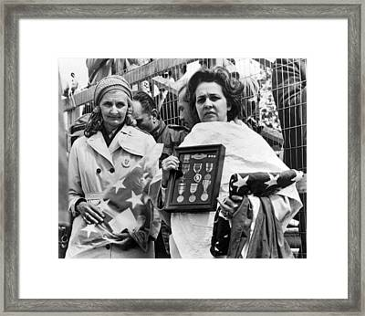 Gold Star Mothers Protest War Framed Print by Underwood Archives