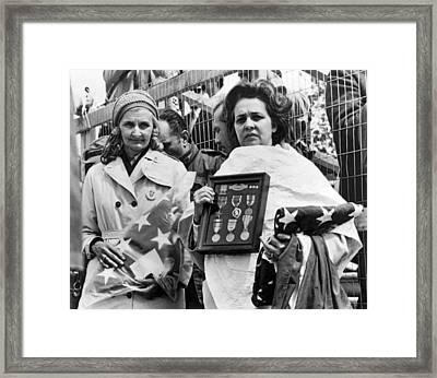 Gold Star Mothers Protest War Framed Print