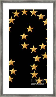 Gold Stars Abstract Triptych Part 2 Framed Print by Rose Santuci-Sofranko