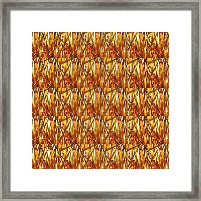 Framed Print featuring the photograph Gold Strand Sparkle Decorations by Navin Joshi