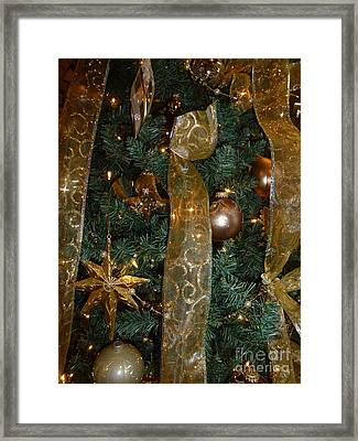 Gold Tones Tree Framed Print by Barbie Corbett-Newmin