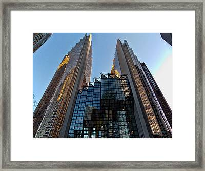 Gold Towers Framed Print by Nicky Jameson