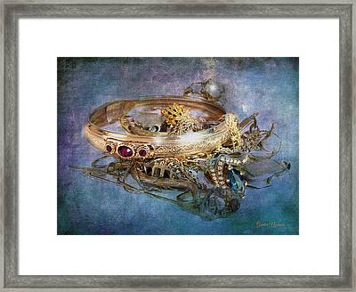 Framed Print featuring the photograph Gold Treasure by Gunter Nezhoda