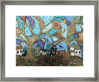 Gold Trees Framed Print