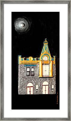Gold Victorian Mansion-montreal Framed Print