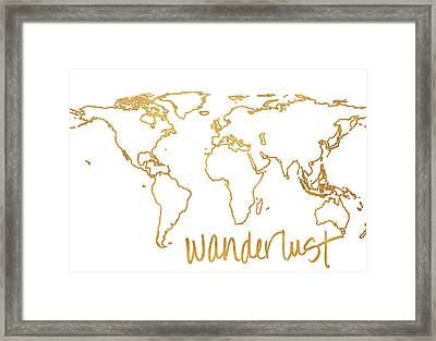 Gold Wanderlust Framed Print by South Social Studio