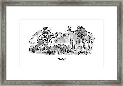 Gold! Framed Print by William Steig