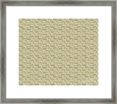 Gold Ying Yang Fish Douvet Pillow Design Framed Print