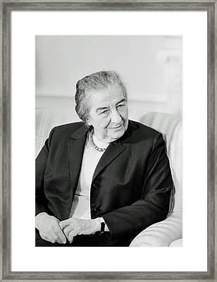 Golda Meir 1973 Framed Print by Mountain Dreams