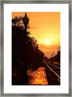 Golden Age Of Rails Framed Print