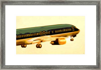Golden And Bronze Rust Framed Print by Marcello Cicchini