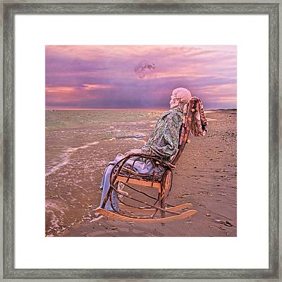 Golden And Grateful Hour Framed Print by Betsy Knapp
