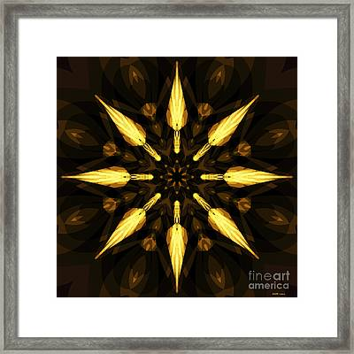 Golden Arrows Framed Print