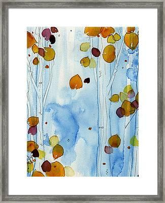Golden Aspens Framed Print by Dawn Derman