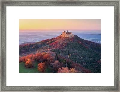 Golden Autumn Evening Framed Print