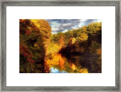 Golden Autumn Framed Print by Joann Vitali